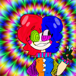 clowncore brightcolors flash hurt kidcore