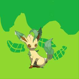 eeveelutions leaf freetoedit