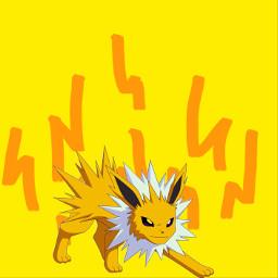 eeveelutions eletrick thunder freetoedit