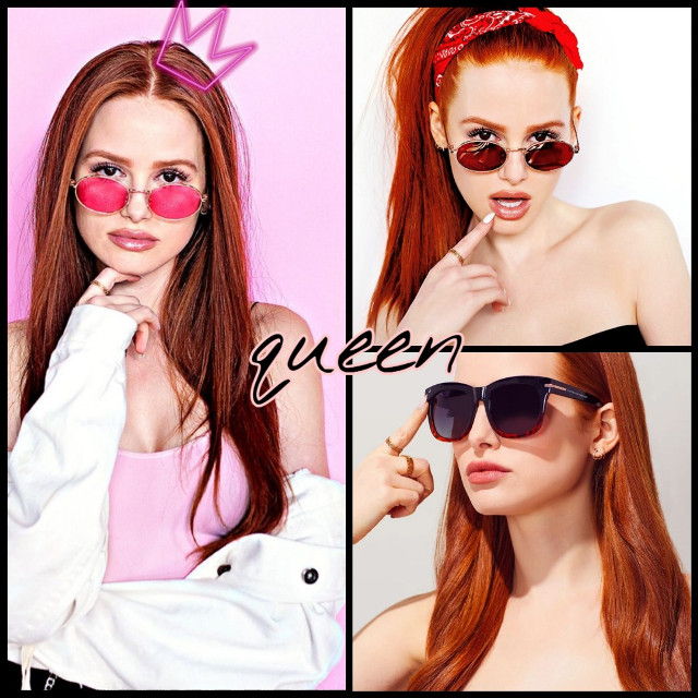My queen 😍👑 #freetoedit #madelainepetsch #madelaineriverdale #cherryblossom #riverdale #queen #pink