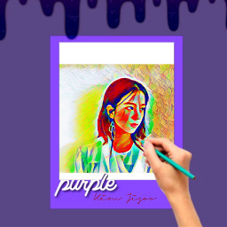 freetoedit kimjisoo blackpink purple replayed