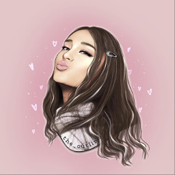 outline outlines arianagrande aesthetic art freetoedit