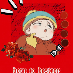 freetoedit ericcartman southpark aesthetic red
