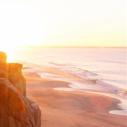 earlyinthemorning beachmood beautifulday cliffwalk nature freetoedit