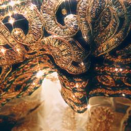 gold golden aesthetic sparkle glitter freetoedit