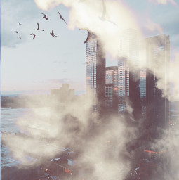 freetoedit myedit clouds cloudy town