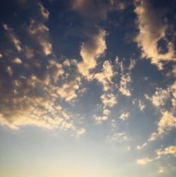sky clouds sunset freetoedit