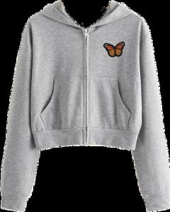 freetoedit jacket croptop top grey