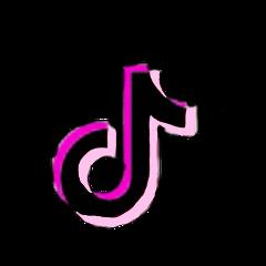 freetoedit pink tiktok logo