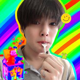 straykids skz jeongin yangjeongin rainbowcore freetoedit
