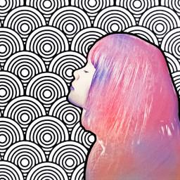 freetoedit girl shilouette portrait colorpop ircstillness stillness