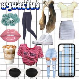 freetoedit aquarius zodiac starterpack brandymelville scrunchie