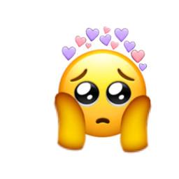 freetoedit emoji heart shyshyshy shy