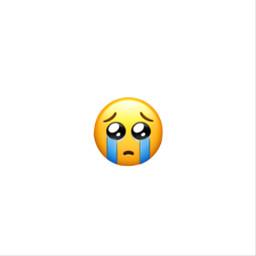 freetoedit sad cry iphone emoji