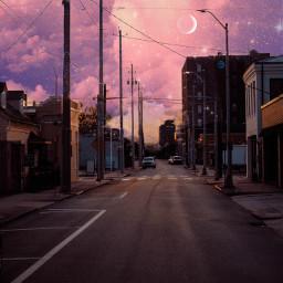 freetoedit urban sunset galaxy stars