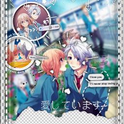 freetoedit honeyworks parejaanime animegirl animeboy