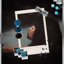 edited blueaesthetic bluebutterflies agirl beautiful freetoedit ircstillness stillness