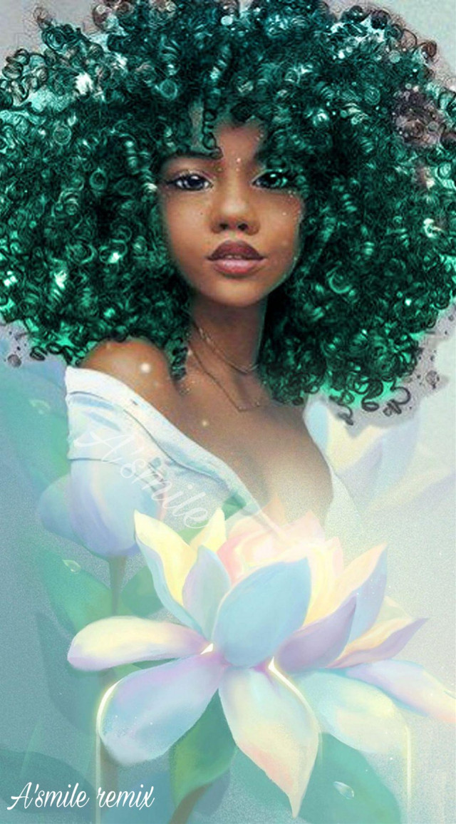 #freetoedit #@asweetsmile1 #color #colors #colorful #bright #princess #africanart #flower #princesseries #fadedaway #oilpainting #women #woman #peace #girl #black