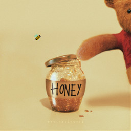 winniethepooh madewithpicsart honey disney jar