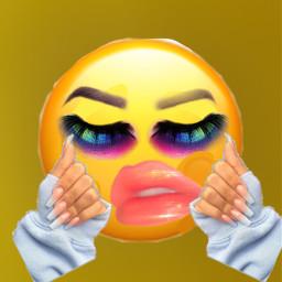 freetoedit baddies emojibaddies nails lashes