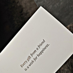 quote friendship happiness giftcard silver