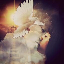 freetoedit angel peace heaven loving ircstillness stillness