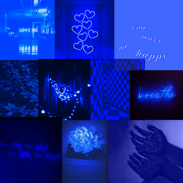 I usually post colorful collages, but i wanted to try something different! #darkblueaesthetic #hearts