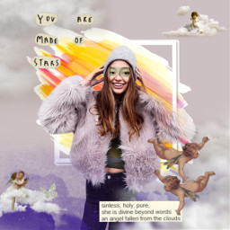 freetoedit canvaseffect aesthetic frames CreateFromHome clouds remixed