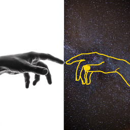 freetoedit galaxy hands space