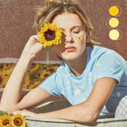 freetoedit sunflower yellowflower milliebobbybrown happy day