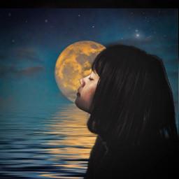 freetoedit stilllife moon dream darkness ircstillness stillness