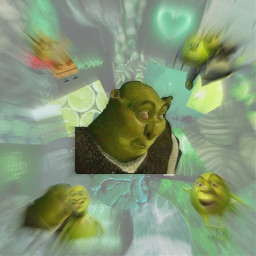 freetoedit shrek green greenaesthetic