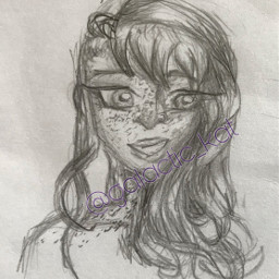 freckles girl brain curly sketch
