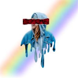 rose flowertear papertear drip rainbowstroke freetoedit