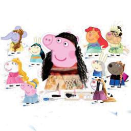 freetoedit peppapig friends belle princesses