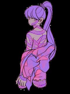 girl art pink purple aesthetic freetoedit