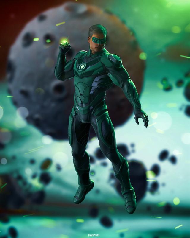 Green lantern #greenlantern #space #planet #greenlanterncore #color #moon #rocks #galaxy #editedwithpicsart #heypicsart #edityourheartout #createdoniphone #createadifferentworld #superhero #green