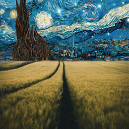 freetoedit night vangogh drawing nature