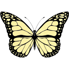 freetoedit butterfly shimmer glitter yellow