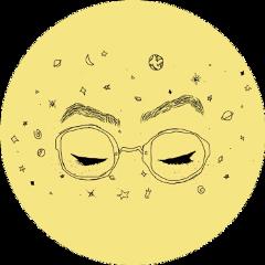 sticker eyes astronomy yellow circle freetoedit