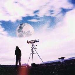 edit picsartedit sky moon freetoedit