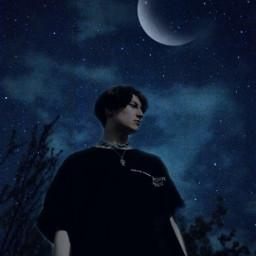 freetoedit moon night nightsky portrait