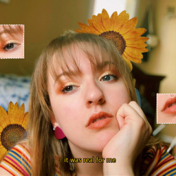 freetoedit sunflowers 80saesthetic 80sbaby bangs