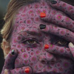 freetoedit woman face flower drawtool