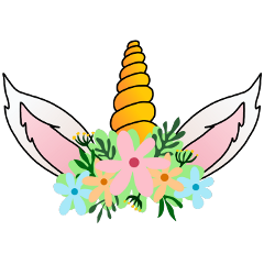 unicorn crown hat origftestickers freetoedit ftestickers