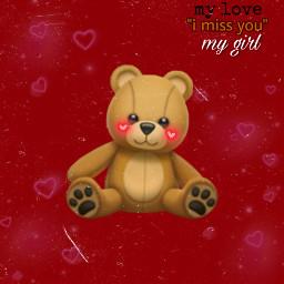 freetoedit imissyou i loveyou teddy teddybear art