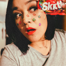 skittles dulces candys maquillaje makeup