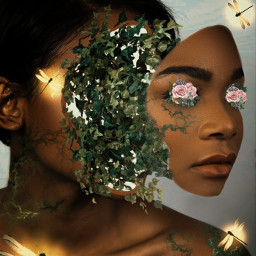 unspalsh freetoedit drawingtool woman flowers ecflowereyes flowereyes