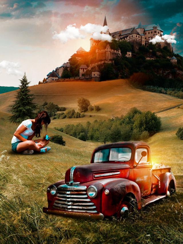 Vintage 🔥 ° ° #girl #imagination #place #castel #grass #land #trees #car #vintage #vintagecar #visual #manipukation #beautiful #scenery #foryou #myedit #madewithpicsart #foryoupage  ° ° Follow me :- ∆@varunoutlines 🦋 ∆@varunclicks ✨ ° ° ~#picsart ~#freetoedit ~#hello  ~@picsart 🔺 ° ° ~[@varunarts]~ [🙂]~ •