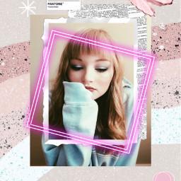 freetoedit pinkaesthetic glitter neon pantone